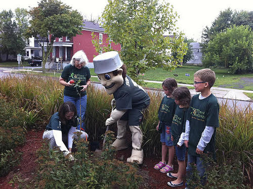 Johnny Appleseed Trail of Trees kicked off with tree planting at Parkview Field
